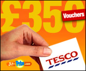 WIN £350 OF TESCO VOUCHERS